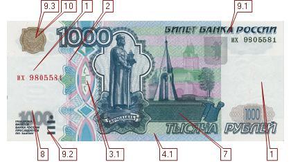 Новая 1000 рублевая купюра инструктор досааф