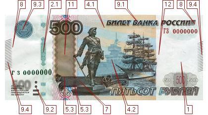 как проверить 500 рублей старого образца - фото 4