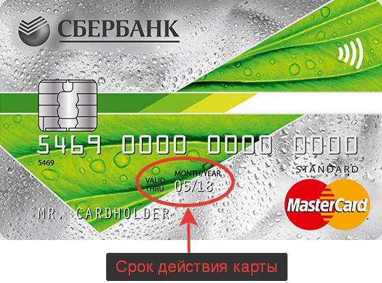 срок действия кредитной карты русский стандарт